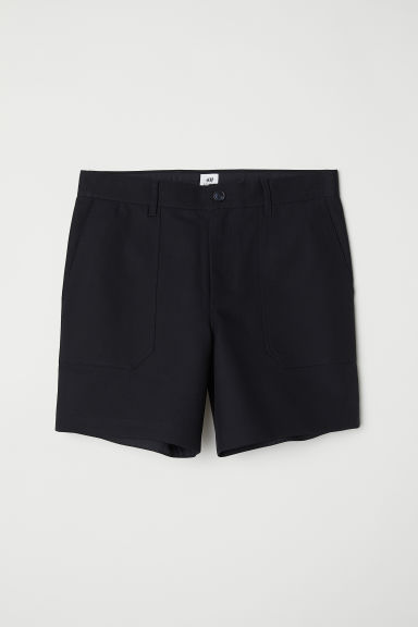 Cotton shorts - Black - Men | H&M