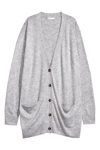 Long cardigan - Light grey - Ladies | H&M