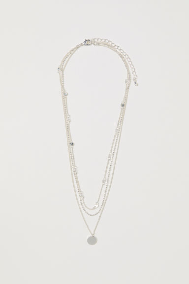 Three-strand necklace - Silver-coloured - Ladies | H&M CN