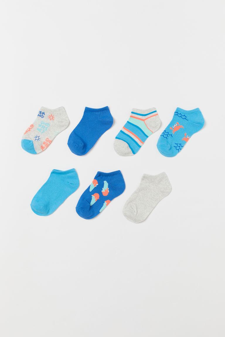 7-pack trainer socks - Blue/Beach motif - Kids   H&M GB