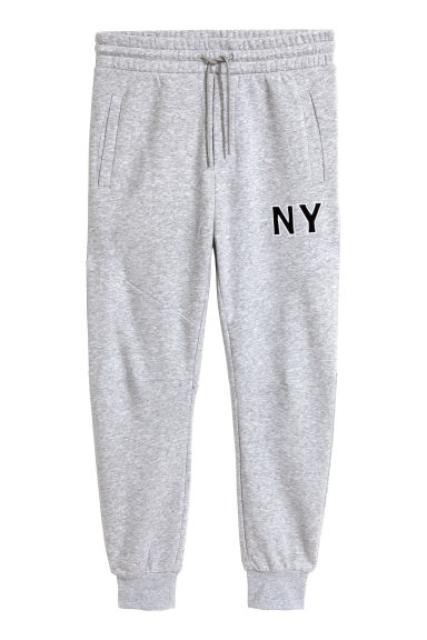 Joggers - Grey marl/NY - Men | H&M GB 1