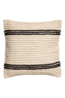 Textured-stripe cushion cover