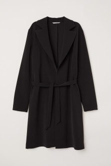 Coat with Tie Belt