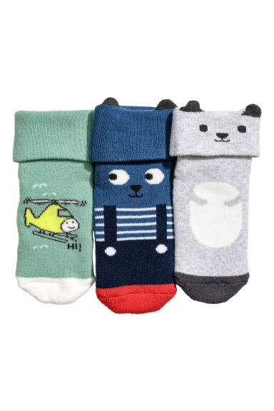 3-pack socks - Green/Helicopter - Kids | H&M CN
