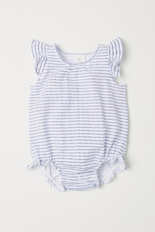 Frilled jersey bodysuit