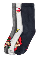 3-pack terry socks - Dark blue/Super Mario - Kids | H&M CN 2