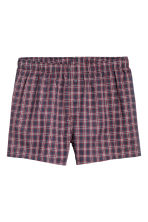 3-pack woven boxer shorts - Dark blue/Checked - Men | H&M IE 4