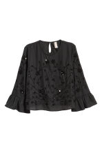 Beaded blouse - Black - Ladies | H&M IE 2