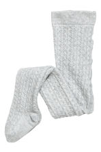 2-pack knitted tights - Pink/Grey marl - Kids | H&M 2