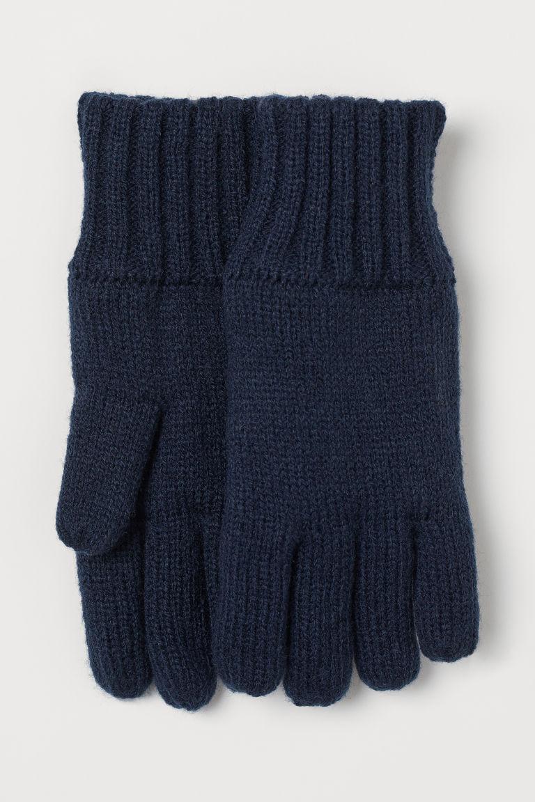Lined gloves - Dark blue - Kids | H&M GB