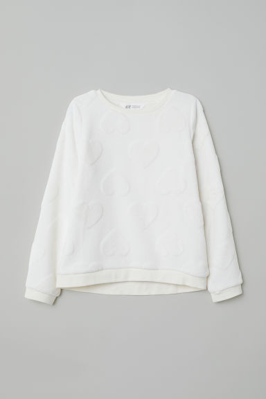 Sweatshirt - Natural white - Kids | H&M GB