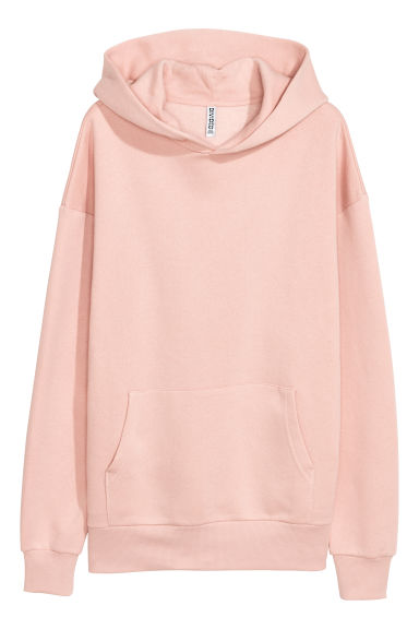Oversized hooded top - Light pink - Ladies | H&M CN