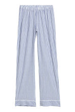 Pyjama shirt and bottoms - Dark blue/White striped - Ladies | H&M IE 3