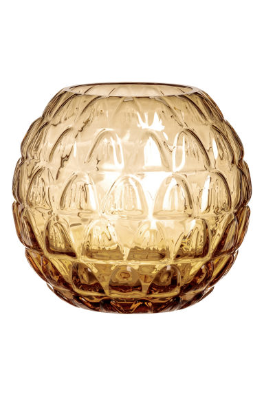Round glass vase - Yellow - Home All | H&M CN 1