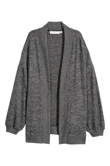 Fine-knit cardigan - Dark grey -  | H&M