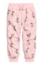 Pull-on trousers - Light pink/Rabbits - Kids | H&M CN 2