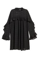 Textured dress - Black - Ladies | H&M CN 2