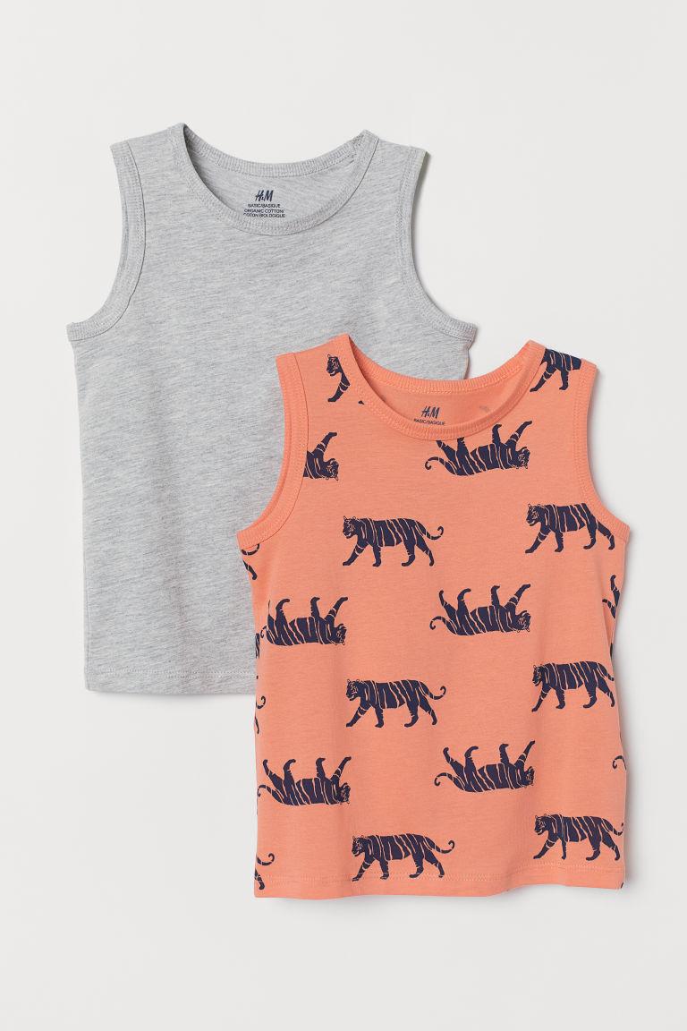 2-pack vest tops - Orange/Tiger - Kids | H&M GB