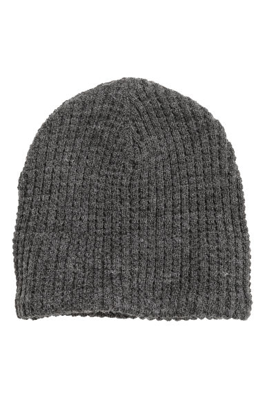 Wool-blend hat - Dark grey - Men | H&M CN