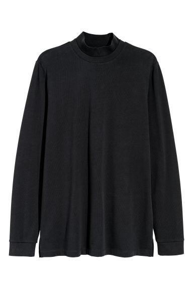 Cotton jersey top - Black -  | H&M