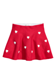 Skirt with hearts