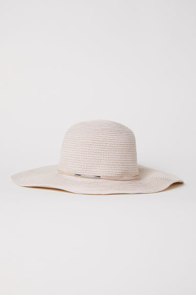 Straw hat - Light beige - Ladies | H&M CN