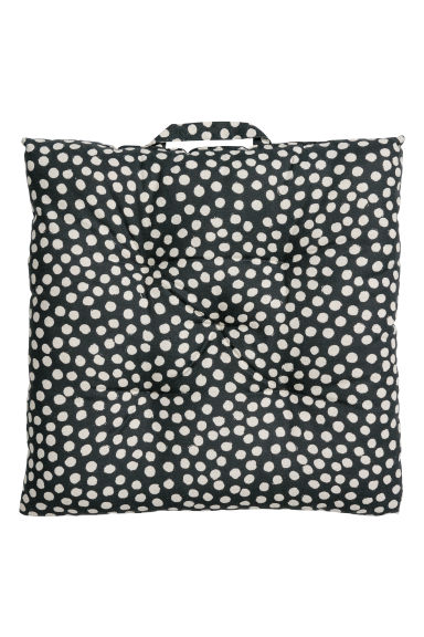 Cotton seat cushion - Dark grey/Spotted -  | H&M CN