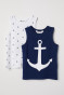 Dark blue/Anchors