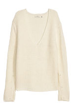 Double-knitted jumper - White - Ladies | H&M IE 2