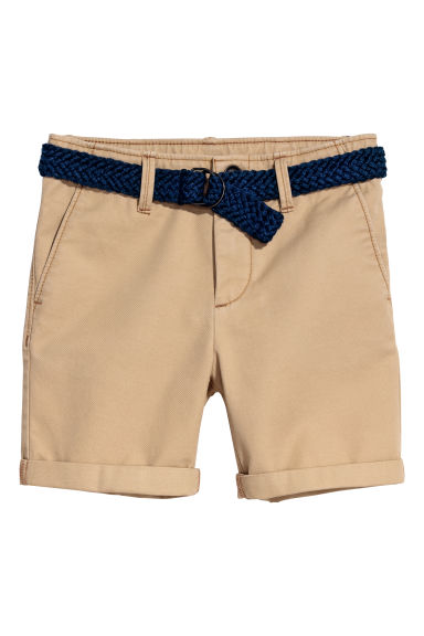 Shorts with a belt - Beige - Kids | H&M CN