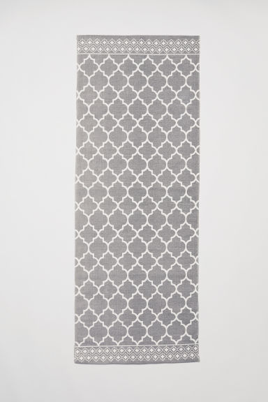 Patterned cotton rug - Grey - Home All | H&M CA