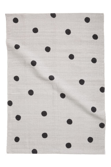Spotted cotton rug - Grey/Black spotted -  | H&M CN