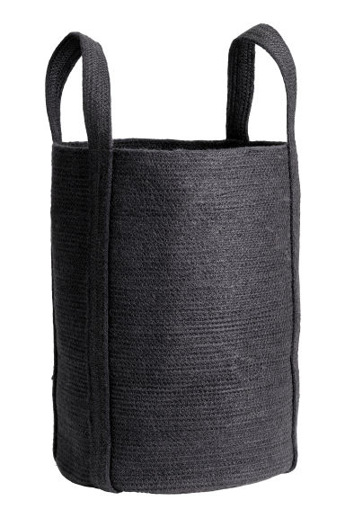 Jute laundry basket - Anthracite grey -  | H&M IE