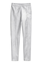 Stretch trousers - Silver-coloured/Coated - Ladies | H&M GB 2