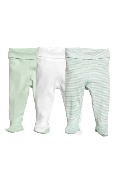 3-pack jersey trousers - Dusky green - Kids | H&M