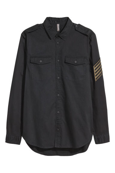 Cotton shirt - Black - Men | H&M