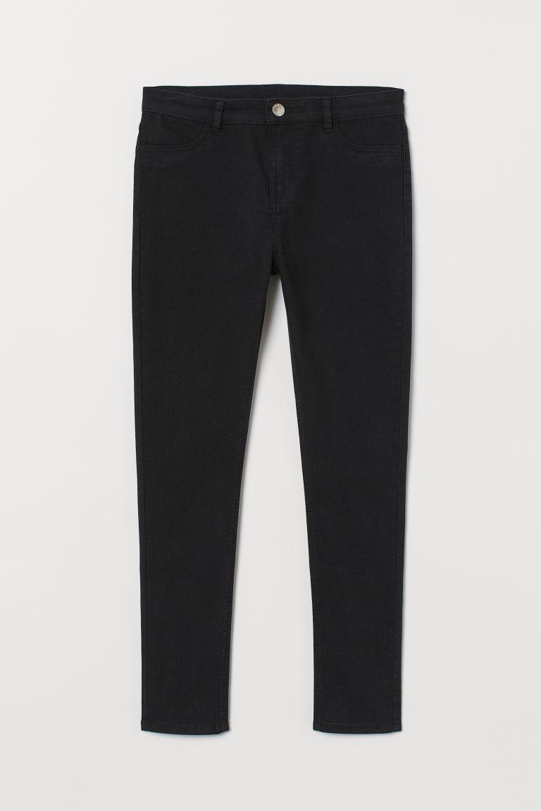 Generous Fit Twill Trousers - Black - Kids | H&M GB