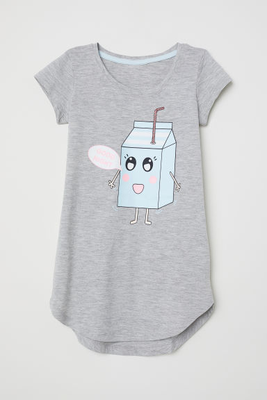 Camisón estampado - Gris jaspeado/Good Night - NIÑOS | H&M ES