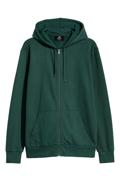 Hooded jacket Regular fit - Dark green -  | H&M GB