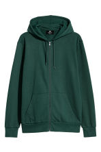 Hooded jacket Regular fit - Dark green - Men | H&M CN 2