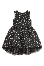 Jacquard-weave dress - Black/Stars - Kids | H&M CN 2