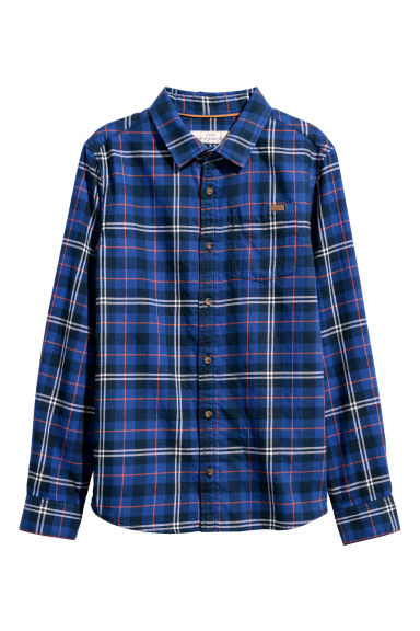 Flannel shirt - Blue/Checked - Kids | H&M