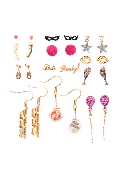 12 pairs earrings - Gold-coloured - Ladies | H&M