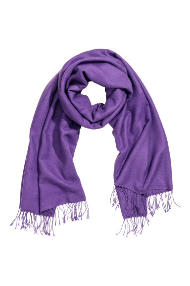 Woven scarf - Purple - Ladies | H&M IE 1