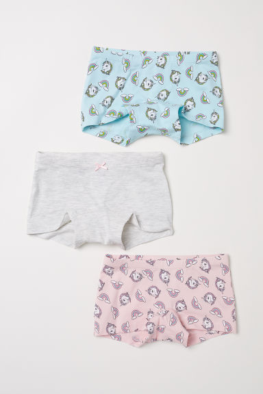 3-pack boxer briefs - Turquoise/Unicorn - Kids | H&M CN