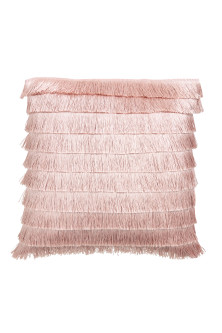 Fringed cushion cover