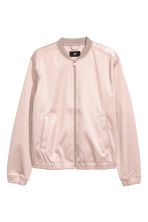 Satin bomber jacket - Light pink - Men | H&M 2