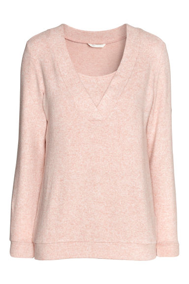 MAMA Fine-knit nursing jumper - Powder pink -  | H&M