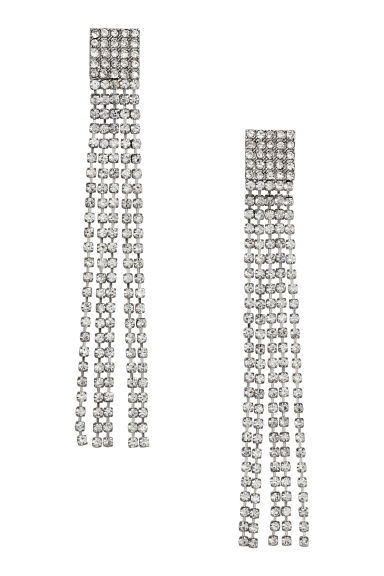 Sparkly earrings - Silver-coloured - Ladies | H&M GB 1