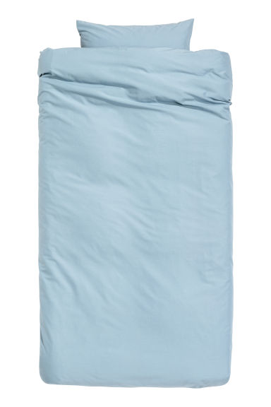 Cotton duvet cover set - Pigeon blue -  | H&M IE